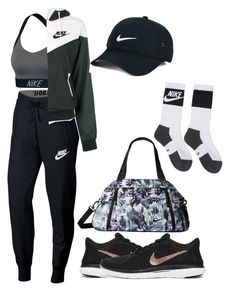 """Sport - Nike -Femme"" by precillia-pln on Polyvore featuring NIKE"