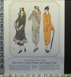 1924 PARIS PATOU LELONG THURLOW COATS