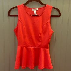 Peplum sleeveless top Really pretty color peplum sleeveless top. Ambiance Apparel Tops Blouses