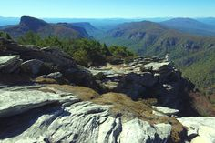 Linville Gorge & Wiseman's View, North Carolina ~ probably too far east for this trip (about an hour east of Ashville)