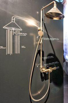 Loving this Shower Pipe by Front Design for Axor /Hansgrohe from @Falken Reynolds Interiors - Day 3 at iSaloni  #isaloni14 #milandesignweek