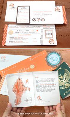 Bali themed wedding invitations