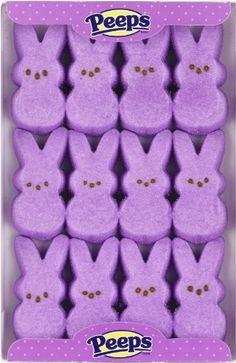 Marhsmallow Peeps Lavendar Easter Bunnies 12ct. $5.48