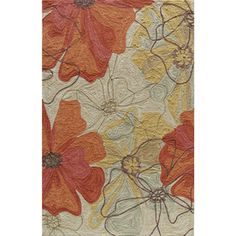 The Summit Rugs in Sand from Momeni are inspired by the surroundings of nature. These rugs are hand-hooked in bold floral and ethnic patterns in subtle beige, yellow, orange and brown. These rugs make a wonderful addition to any room in your home. Floral Area Rugs, Floral Rug, Floral Quilts, Floral Design, Tapete Floral, Polyester Rugs, Hand Hooked Rugs, Beige Background, Hand Tufted Rugs