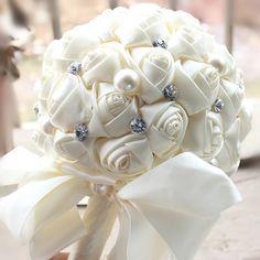 >> Click to Buy << 2017 Wedding Bouquet Luxury Bling Saprkle Bridal Bridesmaid Flower Artificial Flower Rose New Bride Bouquets Buque de noiva #Affiliate