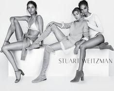 Lily Aldridge, Gigi Hadid and Joan Smalls for Stuart Weitzman's spring 2016 campaign