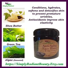 The Green Tea Miracle! Rich in antioxidants that help repair the effects of aging. #natural #skincare #beauty http://etsy.me/1y7uhO7