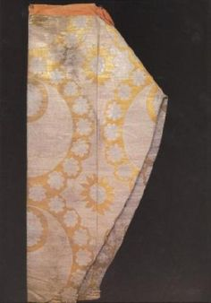 vvv shalvar ( kind of pants ) with a design of crescents and rosettes, 2nd half of the 16th century, topkapı palace museum, istanbul