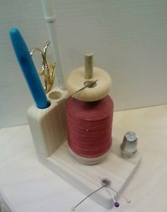 Thread caddy notions holder for hand quilting or sewing. Barnetts Laptop Hoops