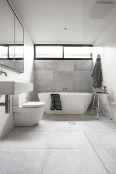 Real reno: A stylish family home with disabled access - The Interiors Addict Contemporary Bathroom Designs, Modern Bathroom, Small Bathroom, Minimalist Bathroom, Bad Inspiration, Bathroom Inspiration, Bathroom Interior Design, Modern Interior Design, Reece Bathroom