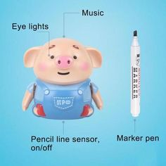 Perfect Gift - Educational Creative Pen Inductive Toy Pig - Clearance – Ohh My Dealz Pig Pen, Cute Pigs, Photos Voyages, Marker Pen, Fine Motor Skills, Gifts For Kids, Best Gifts, Play, Education