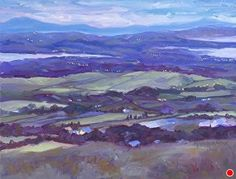 "Summer Solstice, Cnoc an Oir by Laura McRae-Hitchcock Oil ~ 16"" x 20"""