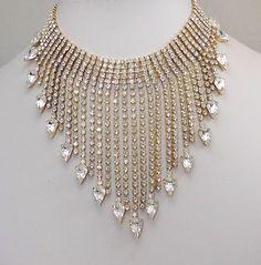 Glitzy Czech necklace 1980s