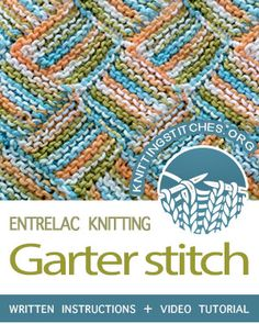 Garter Stitch Entrelac. Learn how to knit the entrelac technique. #entrelacknitting