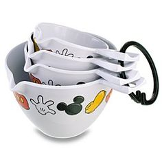 Best of Mickey Mouse Measuring Cup Set -- 4-Pc.    Starting to switch my kitchen over to my Disney addiction!