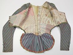 silk jacket, French, late 18C (dimensions: length at CB: 21 1/2 ins) Metropolitan Museum of Art, New York