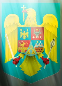 Romanian coat of arms, updated and in vector , via Behance