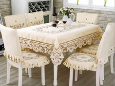 Luxury Runner Fancy Tablecloths Europe Decoration Lace Crochet Tablecloth Manteles De Navidad Elegant Table Runner  Ikea Drapes (4)
