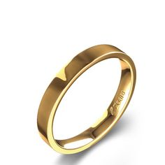 Flat 3mm Comfort Fit Wedding Band in 14K Yellow Gold
