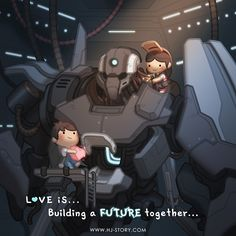 Love is building a future together! This was an idea a fan suggested and I couldn't help but taking the drawing to another level! https://www.instagram.com/hjstory.official/ #love #cute #romance #relationship #couple #future