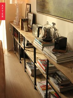 Before & After: A Super Cheap IKEA Shelf Goes Incognito | Apartment Therapy