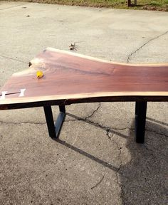 Salvaged Live Edge Coffee Table by WoodWorksbyJared on Etsy