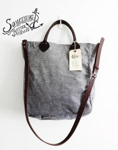 Sth. Vintage Mills Hunting Tote Bag / Wool Fabric Made in Japan