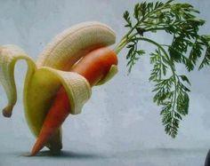 banana and carrot dancing