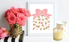 Pink Bow and Polka Dot Chic Christmas Present // by TheTrendySparrow (Part of the 2014 Limited Edition Holiday Collection)
