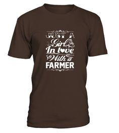 In love with a farmer  #gift #idea #shirt #image #funny #job #new #best #top #hot #engineer