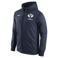 BYU Cougars Nike 2017 Player Sideline Therma-FIT Full-Zip Hoodie - Navy