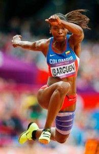 La colombiana Caterine Ibargüen es la única competidora que, actualmente, reina en la liza de salto triple.