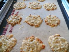 Sid's Sea Palm Cooking: Rosemary Cheese Crisps