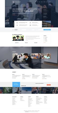 Web Design for Small Businesses: University Education Theme for School & College by Robert Gavick via Behance Creative Web Design, Web Ui Design, Best Web Design, Web Design Company, Responsive Web Design, Blog Design, Design Design, Web Design School, Design Ideas