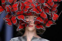 Butterfly headdress.