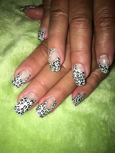 Black amd elite with negative space cheetah print nails. With silver sparkle lines. Negative Space, Cheetah Print, My Nails, Sparkle, Silver, Black, Money, Black People, Glow