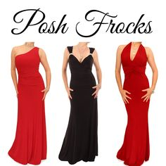 POSH FROCKS!  For those posh occasions where a full length evening dress is preferred a splash of festive red will really get you into the Christmas spirit