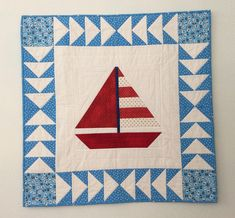 Handmade Patchwork Baby Quilt, Sailboat Baby Quilt, Baby Boy Quilt, Baby Shower Gift, Baby Blanket, Toddler Quilt, Baby Christmas, Nursery Baby Patchwork Quilt, Pink Quilts, Baby Girl Quilts, Quilt Baby, Patchwork Ideas, Sailboat Baby Quilt, Nautical Quilt, Beach Quilt, Nautical Theme