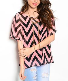 Look at this Neon Pink & Black Chevron Scoop Neck Top on today! Black Chevron, Pink Black, That Look, Scoop Neck, Cute Outfits, Girly, Neon, Fashion Outfits, Blouse