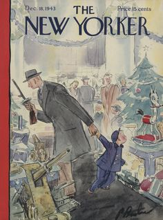 The New Yorker - Saturday, December 18, 1943 - Issue # 983 - Vol. 19 - N° 44 - Cover by : Perry Barlow