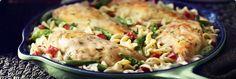 Creamy Dill Chicken casserole - low far cream of chicken - cambells