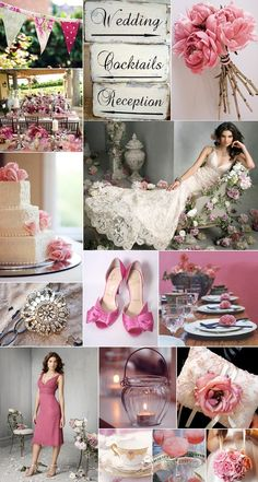 pink and lace wedding theme - if I could have two different ceremonies when I marry Bobby this would be my second theme