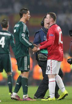 Cristiano ronaldo and wayne rooney Ronaldo Real Madrid, Wayne Rooney, Football, Soccer Players, Beautiful Moments, Cristiano Ronaldo, Manchester United, A Good Man, The Unit