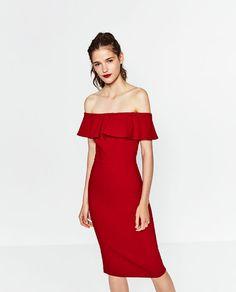 SCHULTERFREIES KLEID von Zara (39,95€)