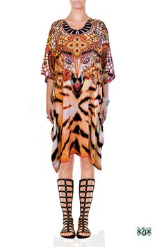 New in our shop! Devarshy Exotic Tiger Animal Print Crystals Embellished Pure Silk Short Designer Kaftan Tunic  https://www.etsy.com/listing/515077533/devarshy-exotic-tiger-animal-print?utm_campaign=crowdfire&utm_content=crowdfire&utm_medium=social&utm_source=pinterest