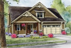Craftsman House Plan with 1994 Square Feet and 3 Bedrooms from Dream Home Source | House Plan Code DHSW076358