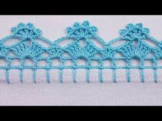 Angel Crochet Pattern Free, Crochet Edging Patterns, Crochet Borders, Free Crochet, Free Pattern, Picot Crochet, Basic Embroidery Stitches, Crochet Bikini, Crochet Earrings
