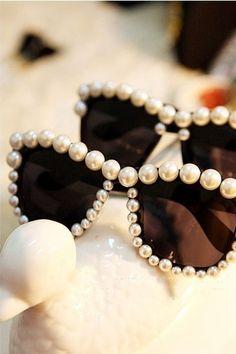 pearl detail on sunglasses