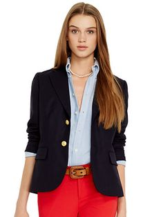 Wool Two-Button Blazer - Jackets Apparel - Ralph Lauren UK