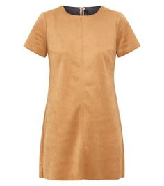 Petite Camel Suedette Tunic Dress